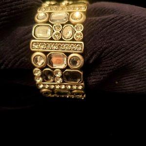 LIA SOFIA crystal bracelet expandable cuff